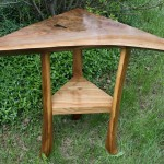 Walnut Corner Table