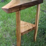Walnut and Red Elm Corner Table (Sold)
